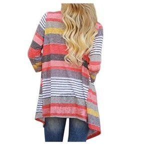 Sweaters - Women's  Cardigans  Draped  Loose Cardigan